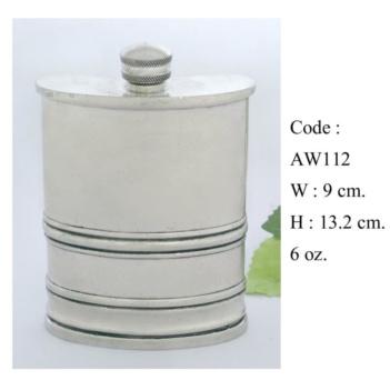 Code: AW-112 W 9 cm. H 13.2 cm 6 oz.